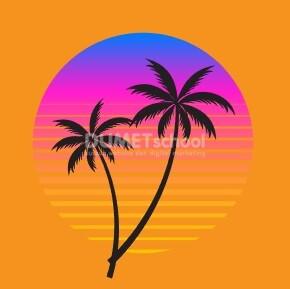 Membuat Silluet Pantai di Adobe Illustrator